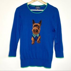 Lands' End Dapper Dog Supima Cotton Sweater Sz XS